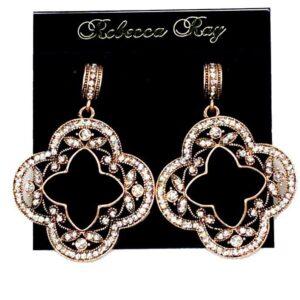 03117 Crystal Clover Earrings