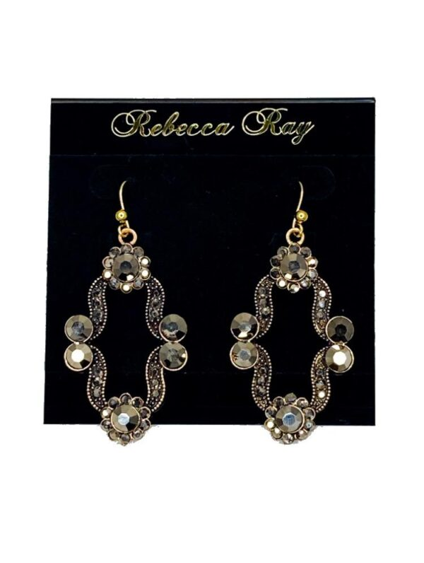 03119 Crystal Clover Earrings