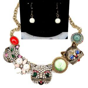 02501 Cat Necklace Set