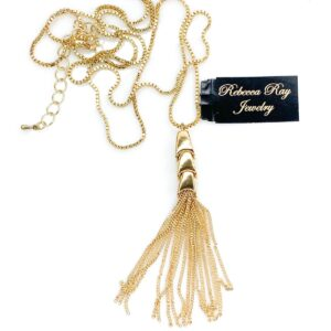 03015 Gold Tassel Necklace