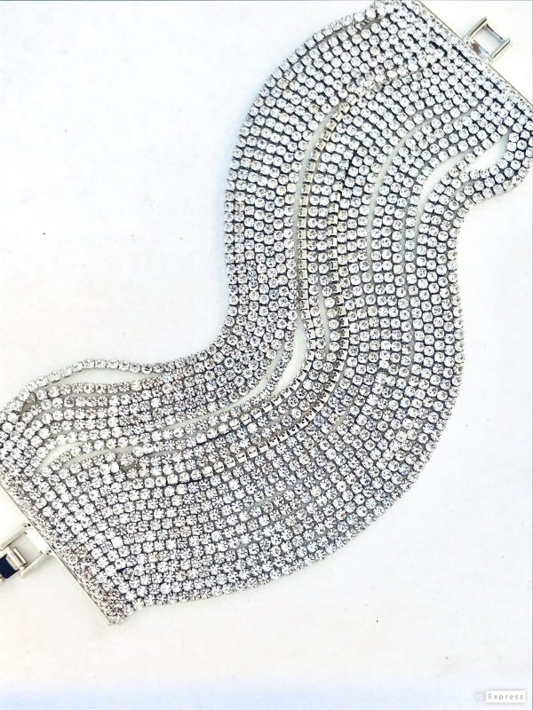 02516 Multi Strand Crystal Bracelet