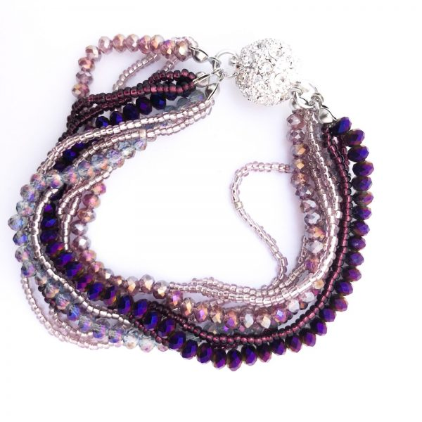 02721 Crystal Beaded Bracelet