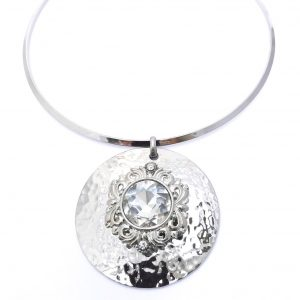 02913 Hammered Silver Necklace