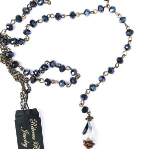 02718 Beaded Rosary Style Necklace