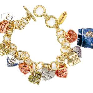 03130 Heart Charm Bracelet